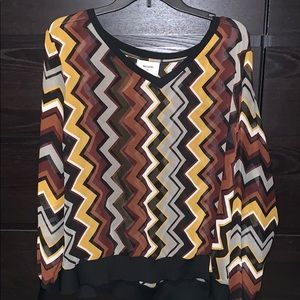 Missoni for Target blouse 2x